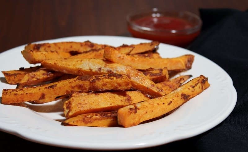 Baked Sweet Potato Fries (800x491)