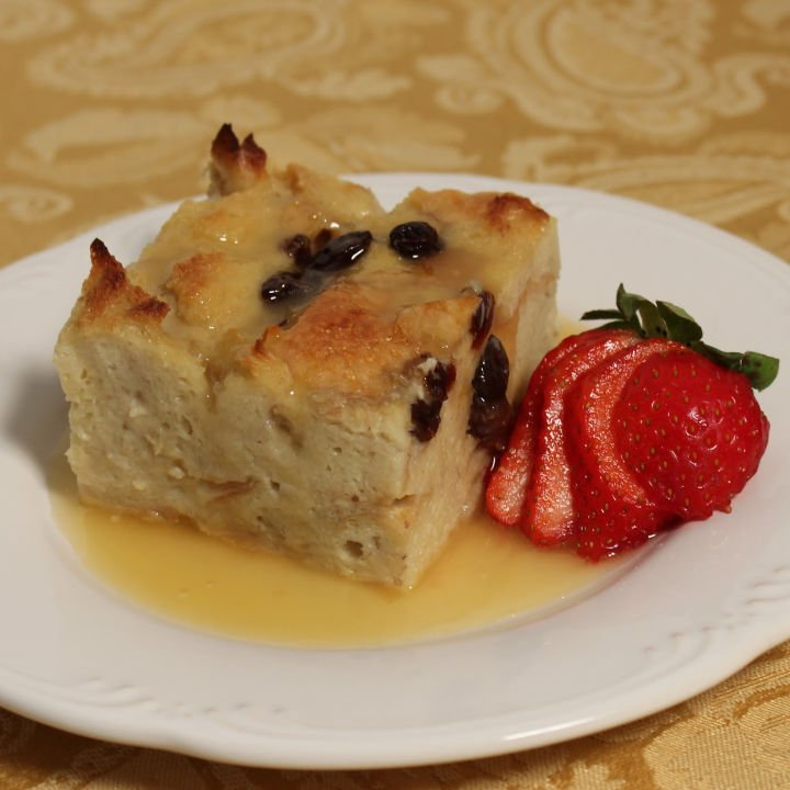 Bread Pudding with Amaretto Sauce Recipe