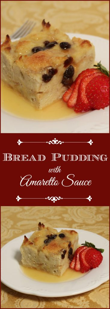 Bread Pudding with Amaretto Sauce - Moist and delicious bread pudding will soon be your family favorite too.