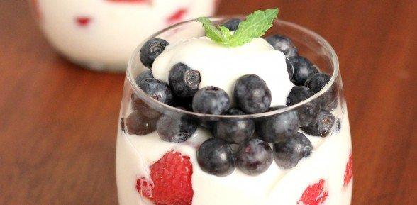 Patriotic Yogurt Parfait