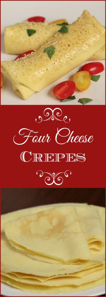 Four Cheese Crepes make the perfect elegant dinner entrée to serve on a special romantic evening or to celebrate Bastille Day