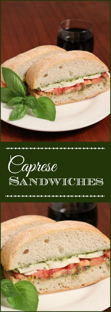 Caprese sandwiches make the perfect quick and light lunch or dinner entrée. Give them a try on a warm summer day with your favorite wine.