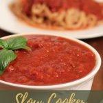 Slow Cooker Marinara Sauce