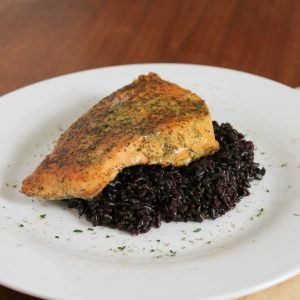 Healthy Spice Rub Salmon over Forbidden Rice