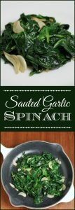 Sauted Garlic Spinach