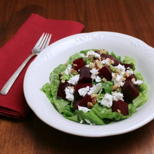 Roasted Beet Salad with Goat Cheese and Citrus Dressing - A colorful and healthy beginning to your lunch or evening meal.