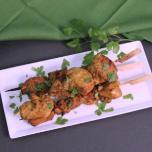 Grilled Curry Chicken Skewers Recipe