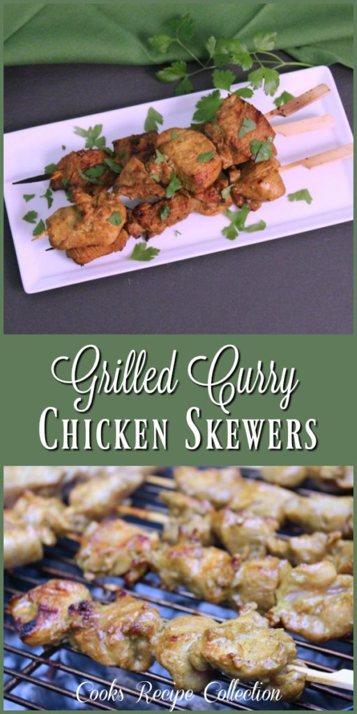 Grilled Curry Chicken Skews Recipe