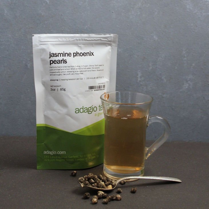 Adagio Teas Loose Tea Review - Jasmine Pheonix Perls