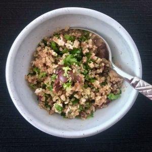 Mediterranean Inspired Quinoa Salad