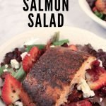 Cedar Planked Salmon Salad