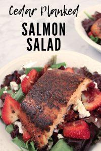 Cedar Planked Salmon Salad