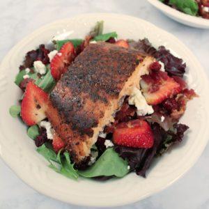 Cedar Bay Grilling Company's Cedar Planked Atlantic Salmon Salad