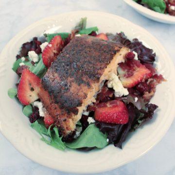Cedar Planked Salmon Salad Recipe