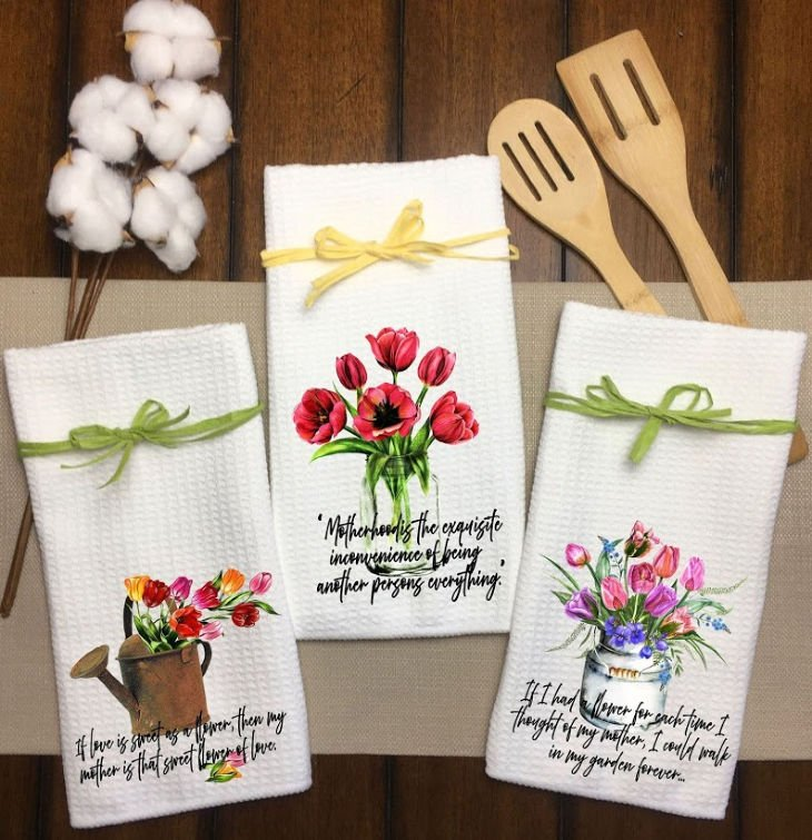 Tulips Kitchen Towels