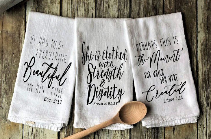 Woman of God Inspired Flour Sack Tea Towels