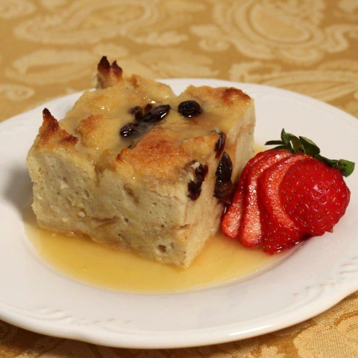Bread Pudding with Amaretto Sauce Recipe