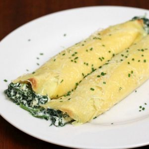 Spinach and Ricotta Crepes